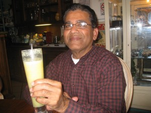 Dad With Pear Ginger Drink At Verde Mesa