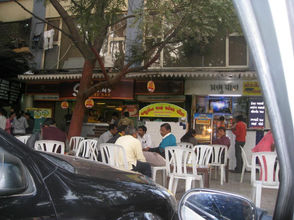Outside of Shambhu's Coffee