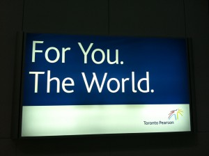 Sign at Toronto Airport