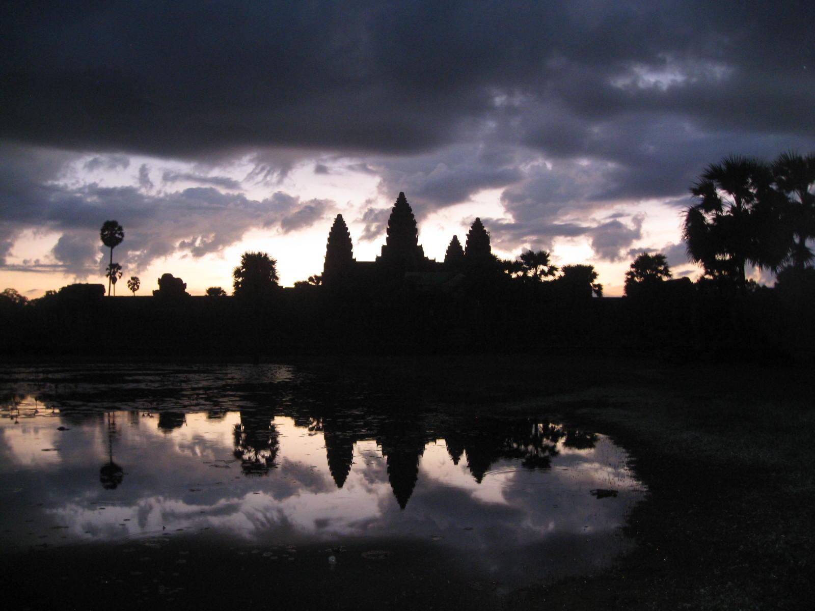 Sunrise At Angkor Wat In Cambodia