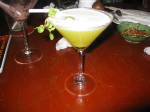 Pineapple Basil Martini at Kari Restaurant in Phnom Penh