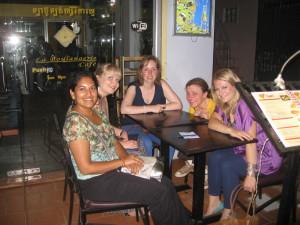 Enjoying Lunch In Siem Reap