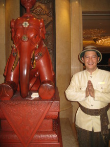 Greeter At Shangri-La Bangkok