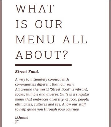 restaurant concept statement essay My favorite restaurant if you are looking for a good place with italian food, i will recommend you the olive garden it is my favorite restaurant to dine.