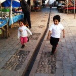 Peruvian Kids In The Market