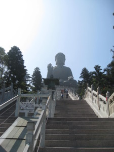 Half Way Up The Steps To Big Buddha On Lantau Island