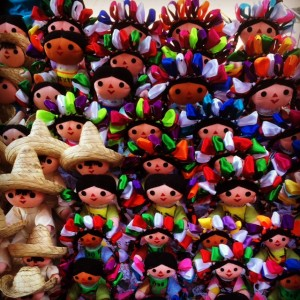 Cute Mexican Dolls In The Markets