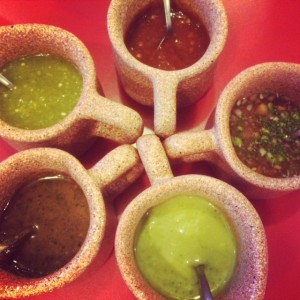 Salsa Sampling In Mexico City