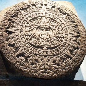 Aztec Stone Of The Sun At Museo Nacional de Antropologia
