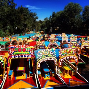 Colorful Gondolas At Xochimilco