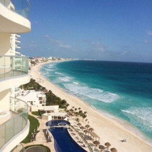 Stunning View From Neelam and Manuel's Cancun Condo