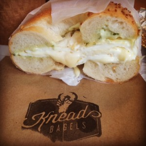 Breakfast Bagel At Knead Bagels