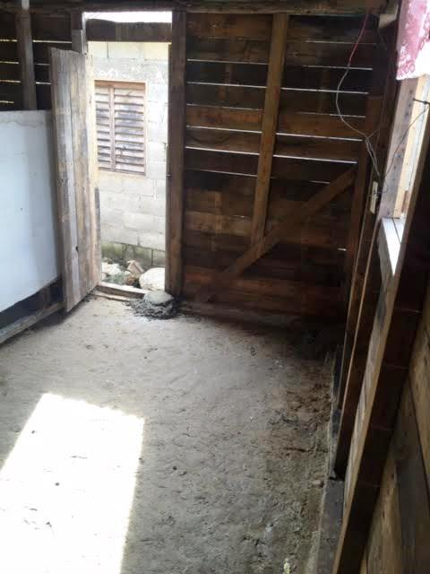 "The ""Before"" Picture With Dirt Floors"