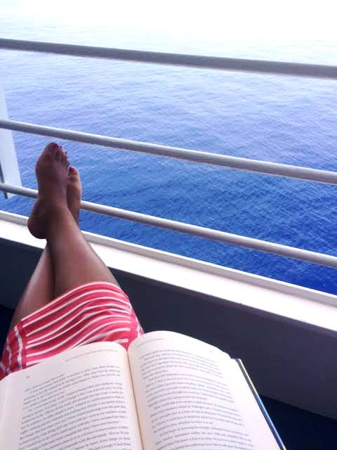 Relaxing And Reading On Our Balcony