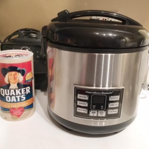 Getting Ready To Make Some Oatmeal