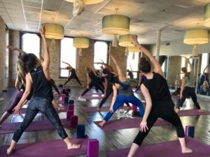 Yoga Class At Studio Three