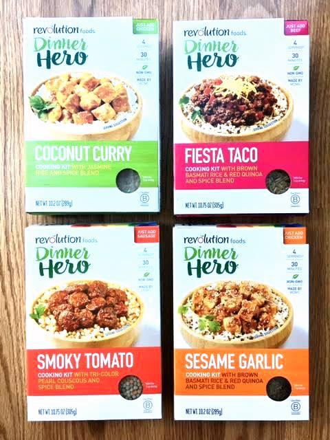 All Four Dinner Hero Kit Options