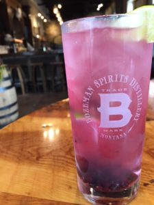Huckleberry Vodka Cocktail At Bozeman Spirits Distillery