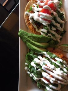 Sweet Potato and Black Bean Tostadas at Starky's in Bozeman