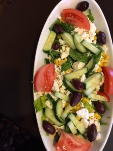 Greek Salad at Euro Cafe in West Yellowstone