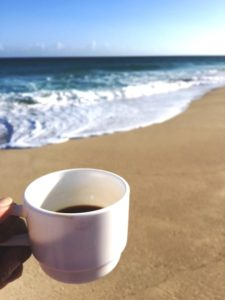 Morning Cup of Cuban Coffee For a Stroll On the Beach