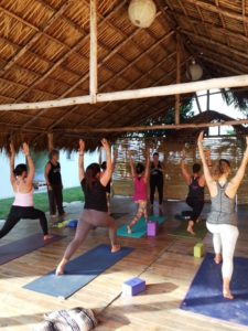 Yoga Class Underway