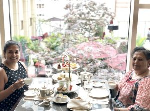 Mom And I Enjoying Our Afternoon Tea