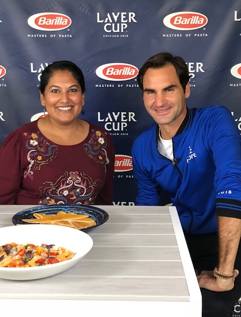 With my new friend Roger Federer!!