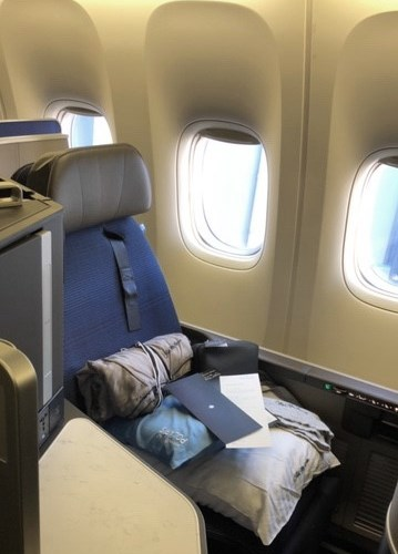 Seat 5A on United Polaris to Paris