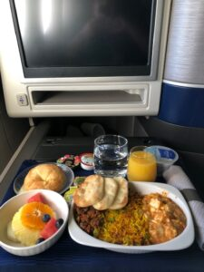 Asian Vegetarian Breakfast on United Polaris