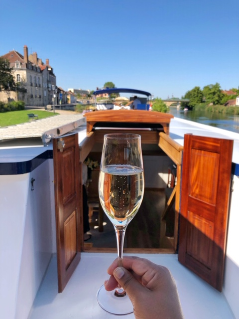A Champagne Toast To Kick-Off Our Adventure