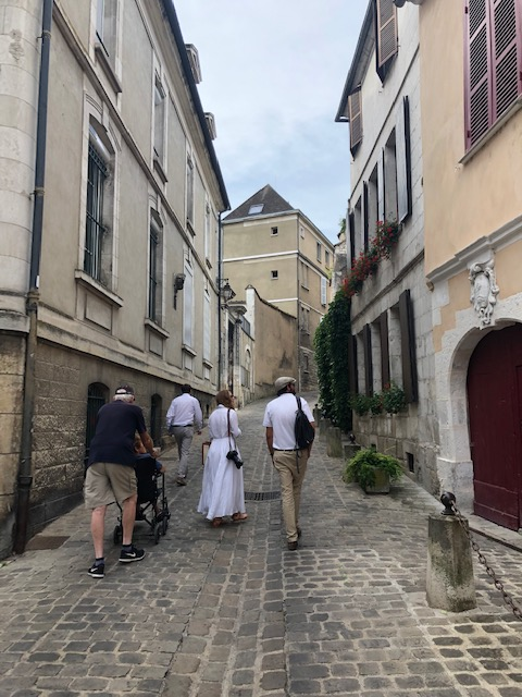 Our Captain/Tour Guide Matthew Showing Us Auxerre