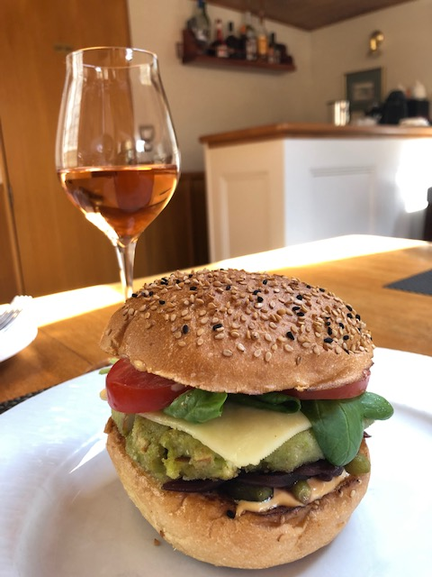Best Ever Veggie Burger And Rose'
