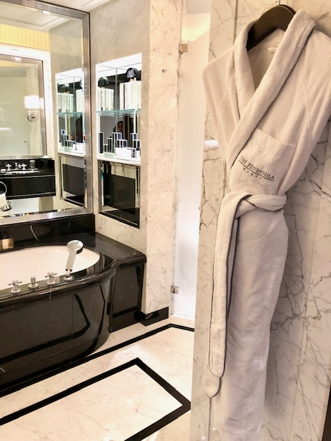 Very Spacious Bathroom at The Peninsula Paris