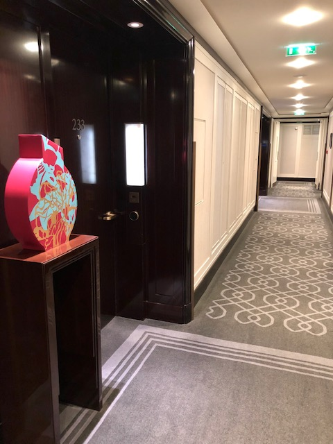 Corridor to Suites at The Peninsula Paris
