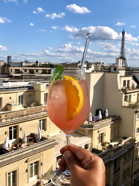 Pen Fizz Drink at Le Rooftop at The Peninsula Paris
