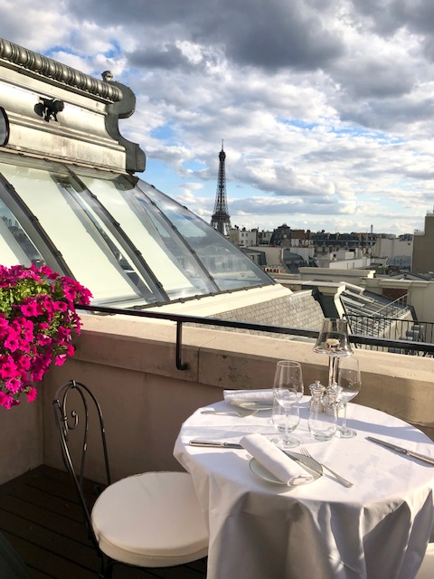 Outdoor Seating at L'Oiseau Blanc at The Peninsula Paris