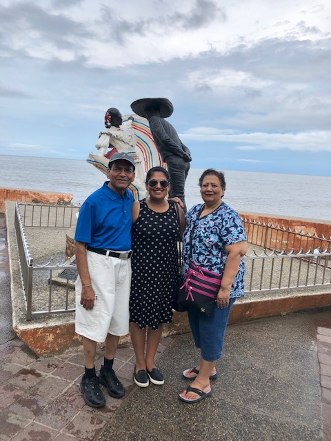 With Mom and Dad Along The Malecon!