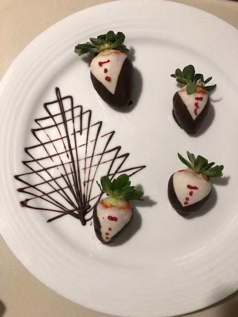 Chocolate Covered Strawberries Awaiting One Evening Upon Our Return To The Room