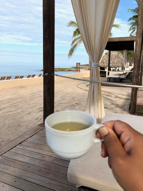 Hot Tea And The Sound Of The Ocean