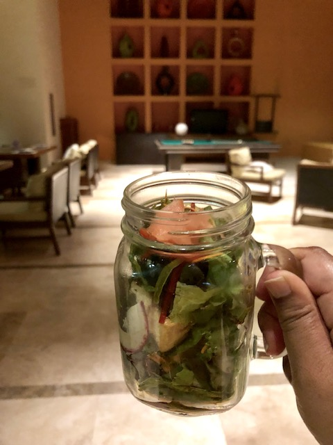 #eatwell Salad In A Jar At La Cascada Restaurant