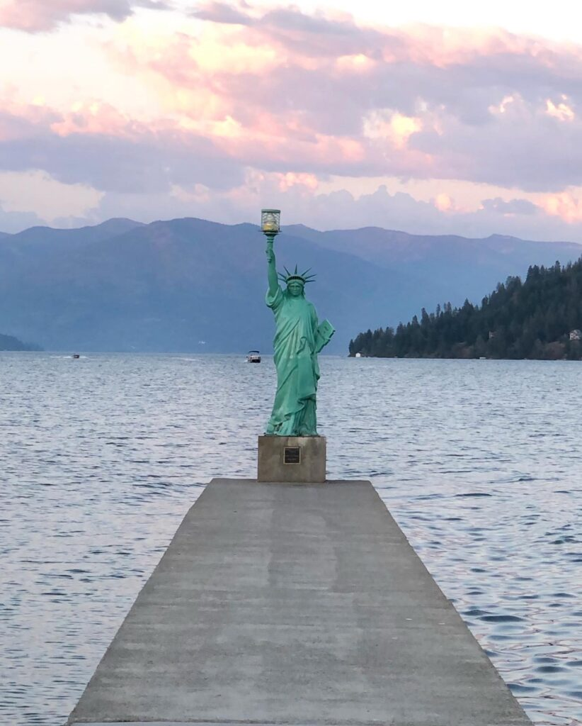 Statue Of Liberty Replica In Sandpoint
