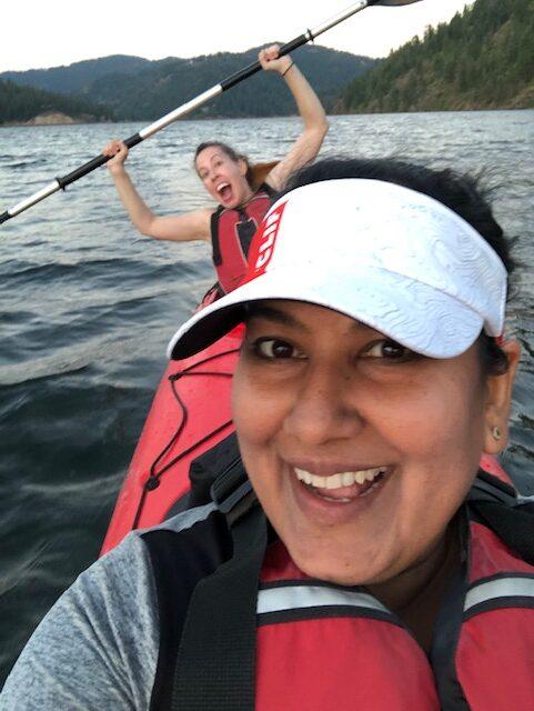 Having Fun On The Kayak Tour