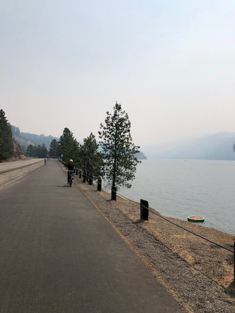 Biking Centennial Trail, CDA
