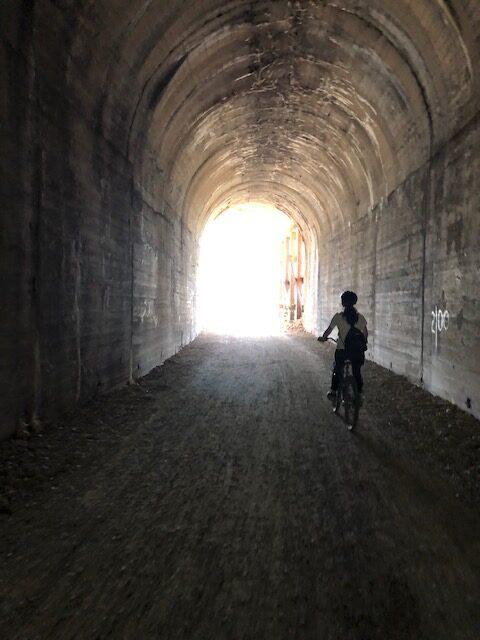 Riding Through A Tunnel